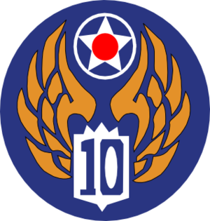 Charra Airfield - Image: Tenth Air Force Emblem (World War II)