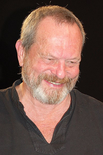 Terry Gilliam, American-born British screenwriter, film director, animator, actor and member of the Monty Python comedy troupe