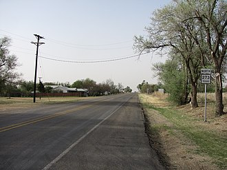 Texas State Highway 273 - Northbound in McLean, Texas