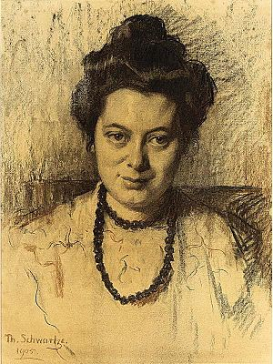 Nelly Bodenheim - Portrait of Nelly Bodenheim, by Thérèse Schwartze, 1905