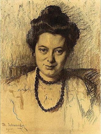 Nelly Bodenheim - Portrait of Nelly Bodenheim, by Thérèse Schwartze, 1905