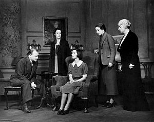 Robert Keith (actor) - Robert Keith, Anne Revere, Florence McGee, Katherine Emery and Katherine Emmet in the original Broadway production of Lillian Hellman's The Children's Hour (1934)