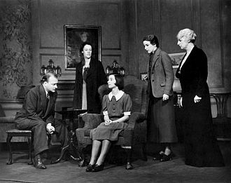 Lillian Hellman - Robert Keith, Anne Revere, Florence McGee, Katherine Emery and Katherine Emmet in the original Broadway production of The Children's Hour (1934)