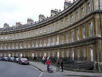 Georgian era - The Georgian architecture of the Circus in the city of Bath, built between 1754 and 1768