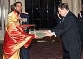 The Ambassador of Austria to India, Dr. Ferdinand Multaschi presented his Credentials to the President, Smt. Pratibha Devisingh Patil, at Rashtrapati Bhavan in New Delhi on December 18, 2007.jpg
