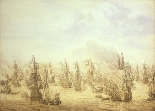 The Battle of Scheveningen, 10 August 1653