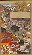 The Burning of the Rajput women, during the siege of Chitor