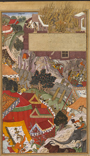 Jauhar - The self-immolation (jauhar) of the hindu women, during the Siege of Chittorgarh in 1568