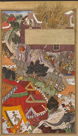 Self-immolation - The self-immolation (jauhar) of the Rajput women, during the Siege of Chittorgarh in 1568