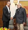 The CEO, Microsoft, Shri Satya Nadella calling on the Prime Minister, Shri Narendra Modi, in New Delhi on December 26, 2014.jpg