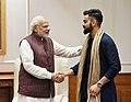 The Captain of the Indian Cricket Team, Virat Kohli calls on the Prime Minister, Shri Narendra Modi, in New Delhi on December 20, 2017.jpg