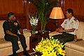 The Chief of Staff - General Staff, Singapore Army, Brig Gen. Tung Yui Fai meeting the Chief of Army Staff, Gen. V.K. Singh, in New Delhi on March 20, 2012.jpg
