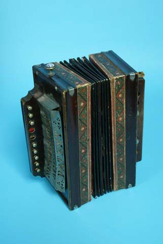 Accordion music genres - A 19th-century accordion, in the collection of The Children's Museum of Indianapolis