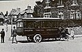 The Clarkson steam bus operated by Torquay-Chelston Steam Car Company standing outside Sharon House, Chelston, in 1913.jpg