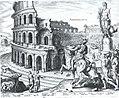 The Colosseum from a set of The Wonders of the World MET Maarten van Heemskerck.jpg
