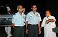 The Defence Minister, Shri A. K. Antony at a felicitation ceremony with the IAF Microlight expedition team which set the new world record by circumventing the world in 80 days, in New Delhi on August 28,2007.jpg