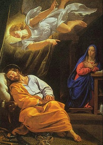 Saint Joseph's dreams - The Dream of Saint Joseph, by Philippe de Champaigne.