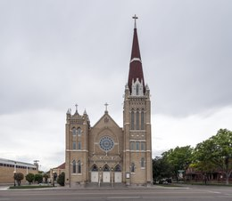 The French Gothic Revival-style, Roman Catholic Cathedral of the Sacred Heart in Pueblo, Colorado LCCN2015632410.tif