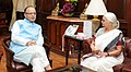 The Governor of Goa, Smt. Mridula Sinha meeting the Union Minister for Finance, Corporate Affairs and Information & Broadcasting, Shri Arun Jaitley, in New Delhi on June 15, 2015.jpg