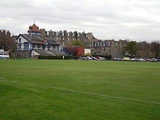 The Grange Club cricket and sports club in the Stockbridge district of Edinburgh, Scotland