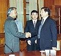 The Member of the Politburo of the Communist Party of China Mr. Liu Qi calls on the Union Home Minister, Shri Shivraj Patil in New Delhi on November 25, 2004.jpg