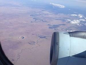 Meteor Crater - The Meteor Crater from 36,000 feet