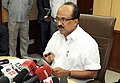The Minister of State (Independent Charge) for Consumer Affairs, Food and Public Distribution, Professor K.V. Thomas addressing a press conference about deliberations of the Food Ministers Meet, in New Delhi.jpg