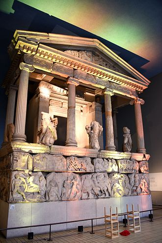 Nereid - The Nereid Monument. From Xanthos (Lycia), modern-day Antalya Province, Turkey. 390–380 BCE. Room 17, the British Museum, London