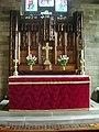 The Parish Church of Broughton St John the Baptist, Altar - geograph.org.uk - 866863.jpg