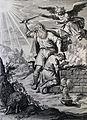 The Phillip Medhurst Picture Torah 118. Abraham sacrificing Isaac. Genesis cap 22 vv 9, 13. Goltzius.jpg