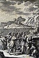 The Phillip Medhurst Picture Torah 542. Cleansing the leper. Leviticus cap 14 v 4-7. Heuman.jpg