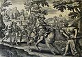 The Phillip Medhurst Picture Torah 574. Balaam smites his ass. Numbers cap 22 vv 22-28. Goltzius.jpg