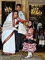 The President, Smt. Pratibha Devisingh Patil presenting the National Child Award to Maitreyee Mohan Ghanote of Maharashtra, on the occasion of Children's Day, at Rashtrapati Bhavan, in New Delhi on November 14, 2010.jpg