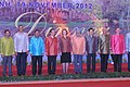 The Prime Minister, Dr. Manmohan Singh in a group photo with the ASEANEAS Heads of StateGovernment and ASEAN SG 1st at Gala Dinner for the 21st ASEAN Summit and Related Summits, in Phnom Penh, Cambodia on November 19, 2012 (1).jpg