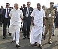 The Prime Minister, Shri Narendra Modi arrives in Kochi on December 14, 2015. The Chief Minister of Kerala, Shri Oommen Chandy is also seen.jpg