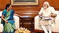 The Prime Minister, Shri Narendra Modi meeting the Chief Minister of Gujarat, Smt. Anandiben Patel, in New Delhi on May 16, 2016.jpg