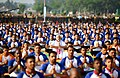 The Prime Minister, Shri Narendra Modi participates in the mass yoga demonstration, on the occasion of the 4th International Day of Yoga 2018, at the Forest Research Institute, in Dehradun, Uttarakhand on June 21, 2018 (5).JPG