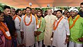 The Prime Minister, Shri Narendra Modi with the Village Pradhans from Varanasi Parliamentary Constituency, in New Delhi on August 10, 2016 (2).jpg