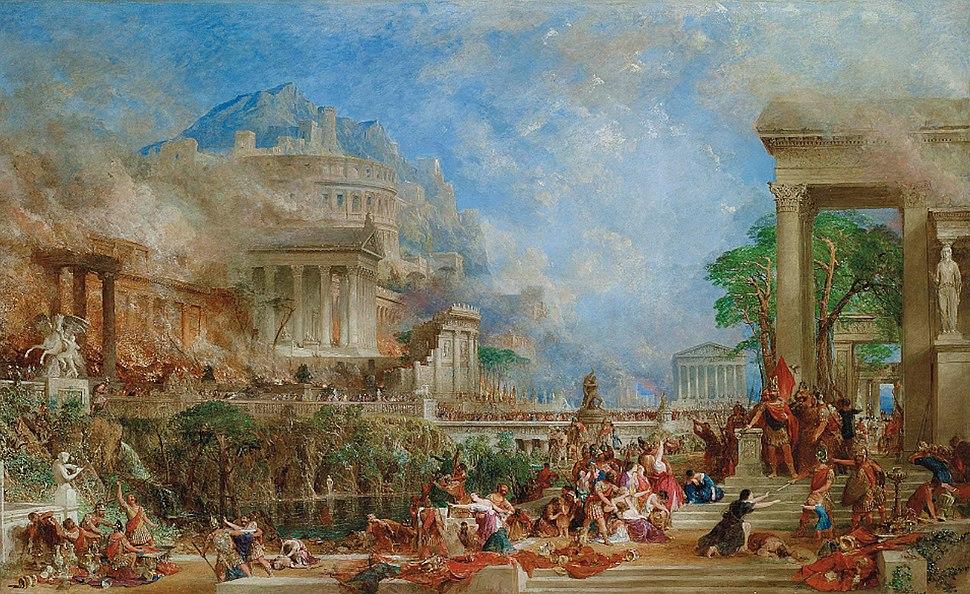 The Sack of Corinth by Thomas Allom