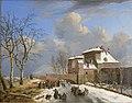 The Sas Gate, Ghent, in the Winter by Pierre François De Noter Rijksdienst voor het Cultureel Erfgoed B134.jpg