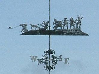 Shapwick, Dorset - Commemorative weathervane at Crab Farm