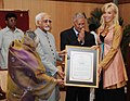 The Vice President of India Shri M. Hamid Ansari presented G.D. Birla International Award – 2008 to Dr. Percy Barnevik for outstanding contribution in the field of Rural Upliftment, in New Delhi on June 21, 2010.jpg