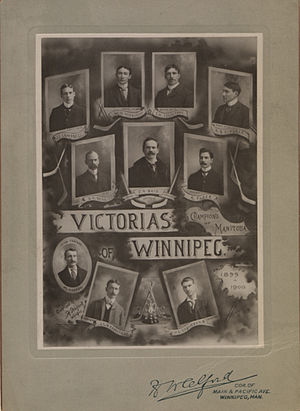 Jack Armytage - Jack Armytage, in the middle in the bottom row, with the 1899–1900 Winnipeg Victorias.