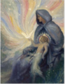 The Virgin and Child -George William Russell.PNG