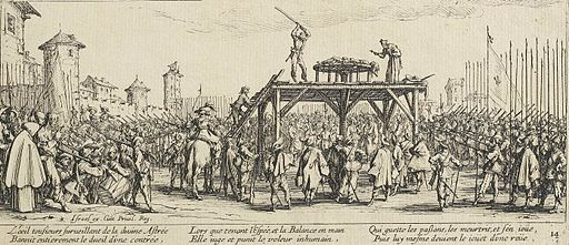 The Wheel by Jacques Callot