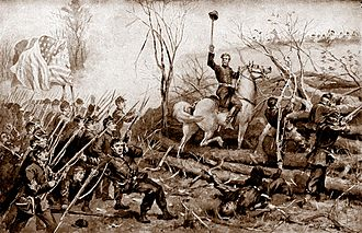 Turning point of the American Civil War - Union assault on Confederate entrenchments at the Battle of Fort Donelson
