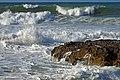 The coast of the Crete Sea near Chania. Crete, Greece.jpg