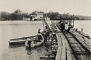 The dock and Decauville railway in Puerto Chico on San Cristóbal, 1919.jpg