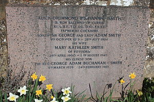 Alick Buchanan-Smith, Baron Balerno - The grave of Alick Drummond Buchanan-Smith, Currie Cemetery