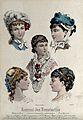 The heads and shoulders of five women; the upper two wear fa Wellcome V0019897ER.jpg